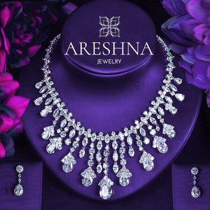 Chandelier Swarovski Crystals Luxury Necklace